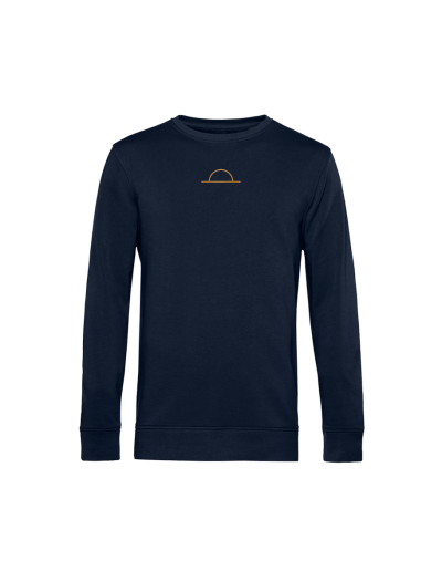 SWEATSHIRT NAVY GOLD SUNDOWN